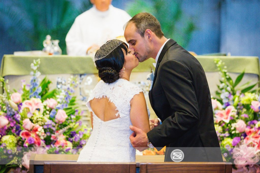 Windsor Ballroom bride and groom tie the knot at a local church