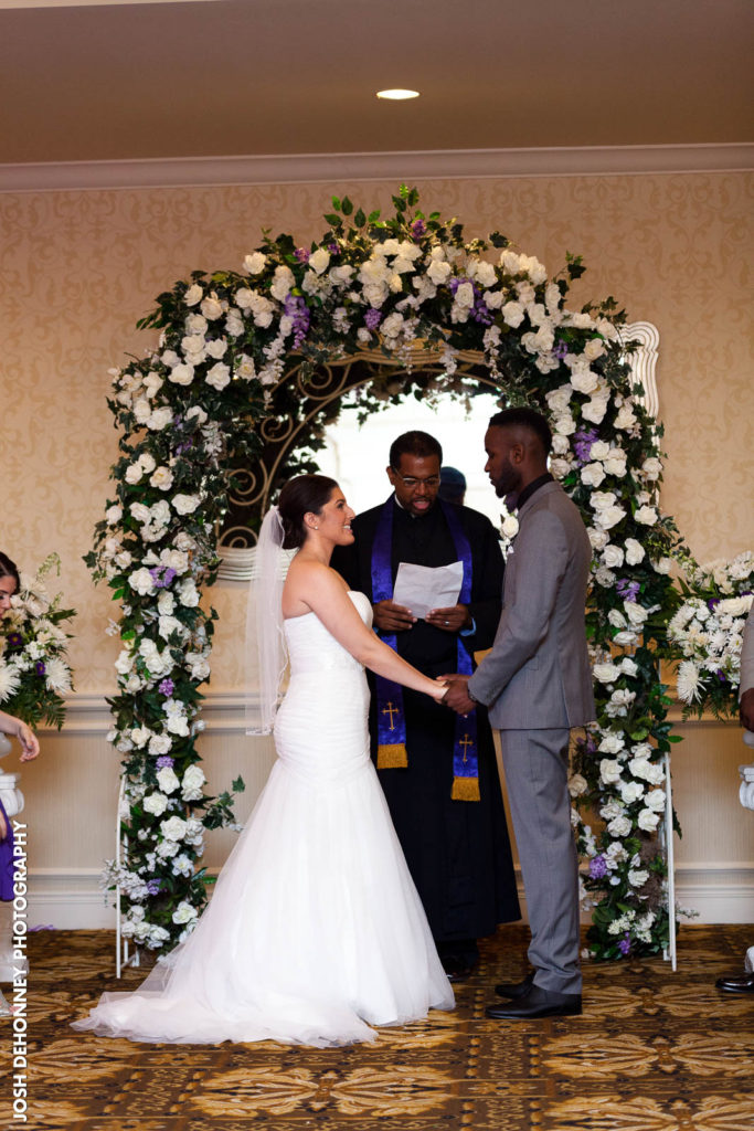 Indoor ceremonies in the Windsor Ballroom at the Holiday Inn East Windsor, NJ