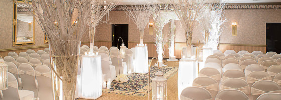 White Wedding Venue at Windsor Ballroom NJ