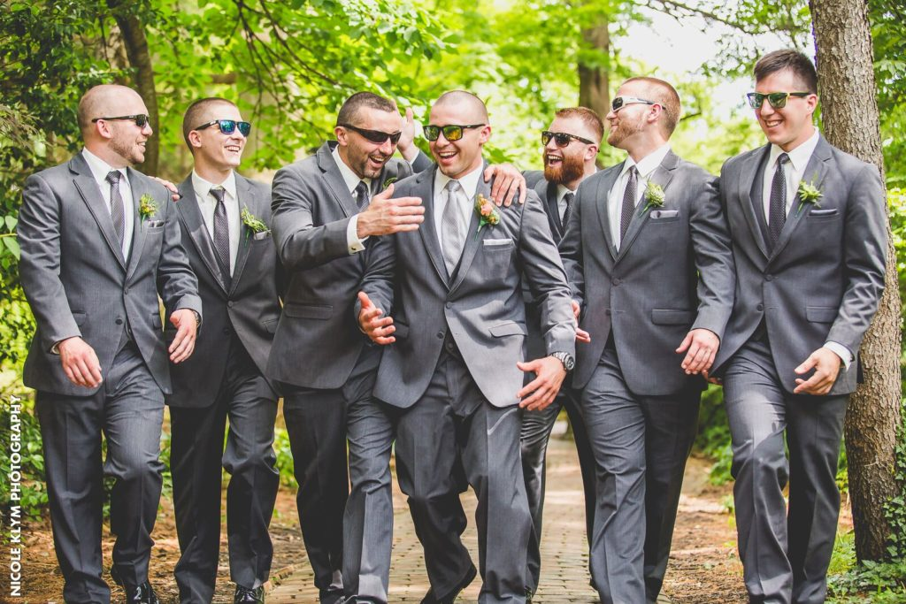 Groomsmen in Windsor Ballroom Wedding