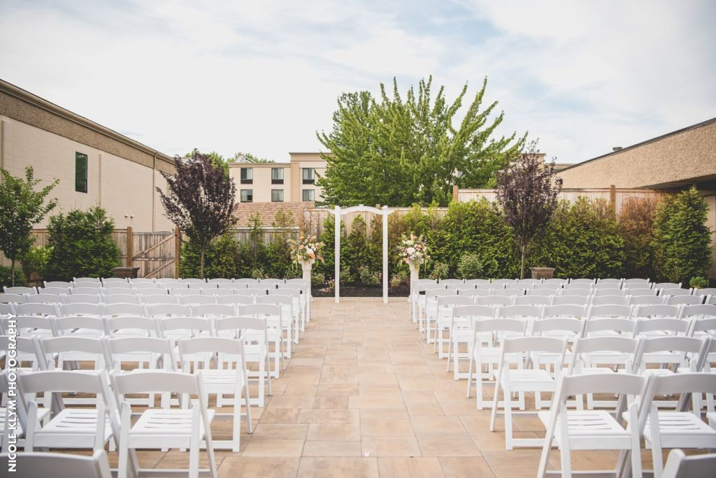 Outdoor Ceremony at Windsor Ballroom NJ Wedding Venue