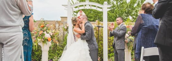 outdoor wedding ceremony in new jersey