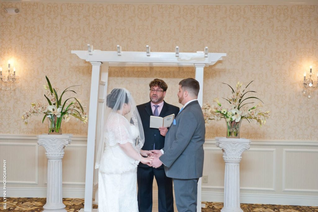 Bride Groom Officiant Windsor Ballroom
