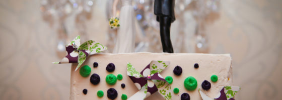cake decor with pinwheels