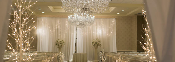 winter wedding ceremony decor