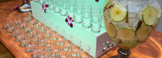 water station for weddings